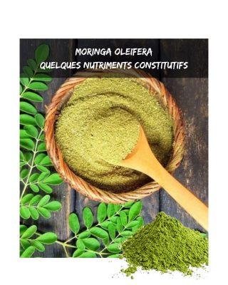 🍀Le moringa, de type Oleifera est une nutritive. Il contient: - 2 fois plus de protéines que le yaourt - 4 fois plus de vitamine A que la carotte  - 3 fois plus de potassium que les bananes - 7 fois plus de vitamine C que l'orange - 4 fois plus de calcium que le lait - 3 fois plus de vitamine E que les épinards - Plus de calcium que la spiruline - Une haute concentration en chrorophylle 👉 Ce sont quelques nutriments parmi les nombreux que constiennent les feuilles de moringa. C'est n'est pas pour rien qu'on lui donne le nombre de l'