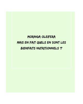 🥬💚Le moringa oleifera, ou